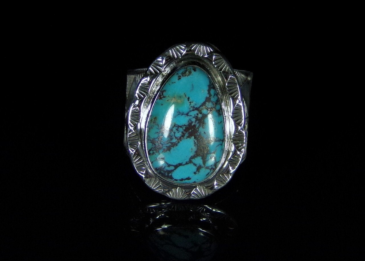 s turquoise ring sterling silver handmade size
