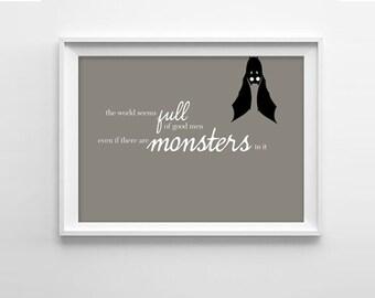 Bram Stoker Dracula Quote Art Print - Vampire Bat!