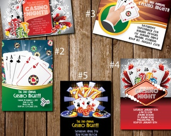 Custom Casino Night/Party Invitations
