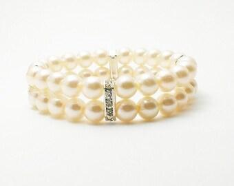 Bridesmaid Jewelry -Ivory Pearl Bracelet - Bridal Jewelry - Ivory Wedding Jewelry - Jewellery Gifts - Bijoux Pearls - Pulsera Perla