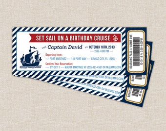 Ticket invitation boat boarding pass cruise ticket nautical boarding pass invitation nautical cruise ticket nautical birthday party printable invite pronofoot35fo Images