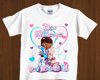 Doc Mcstuffins Birthday Shirt  Iron On Images Printable , The Doc is In-YOU PRINT