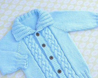 Knitting Pattern Only - Seamless Braided Cable Sweater