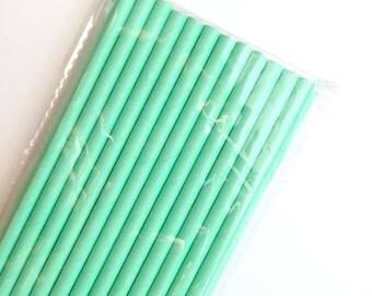 Aqua Paper Straws, Barber Shop Style (25)