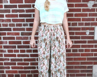 Hippie Floral Pants / Small