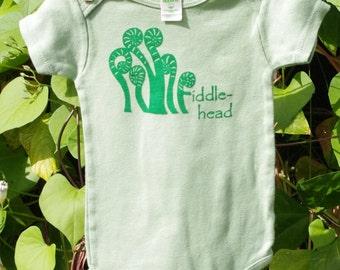 Organic Green Fiddlehead Onesie