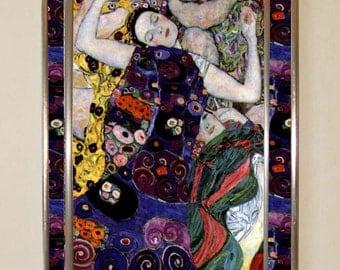 Gustav Klimt - The Virgin, Stained glass