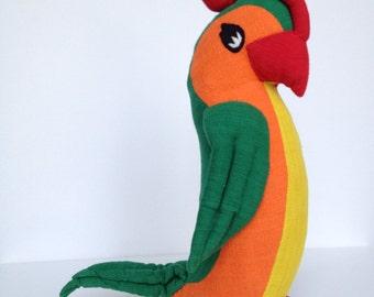 Vintage Designer Handmade Parrot Plush by Barbara Samsoni BAREFOOT