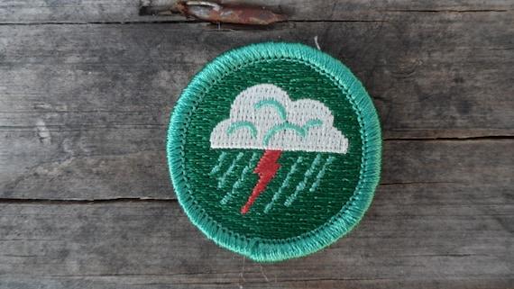 Items similar to Lightning Patch Weather Merit Badge Cloud – Weather Merit Badge Worksheet