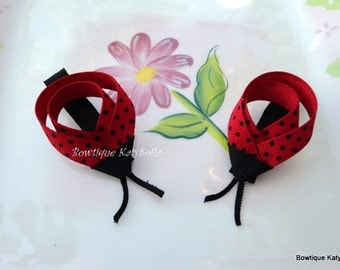 Set of Lady bug hair clip, bug hair clip sculpture