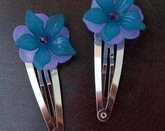 Flower Petal Barrette (various colors)