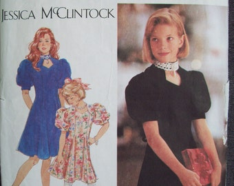 Simplicity 9963. Girl's dress pattern. Size 7, 8, 10. New, uncut, factory folded.