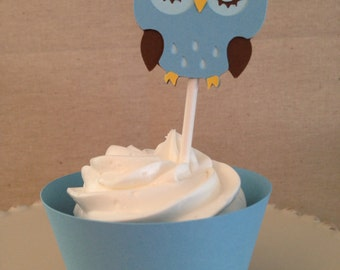 Owl Cupcake Toppers/Wrappers