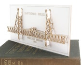 Architectural Model of the Hawthorne Bridge Portland Oregon, Laser Cut Card, No Assembly Required