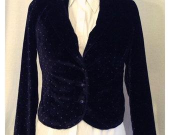 Black and White Polka Dot Blazer/Suit Jacket - Velvet-y Smooth!
