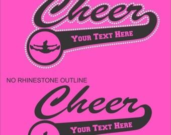 Cheer Mom Sweatshirt/ Custom Sweatshirt/ Vinyl Rhinestone Personalized Cheer Mom Team Name Mascot Hoodie Sweatshirt/ Custom Shirts