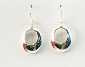Designer Silver Earrings, Hanging  Sterling silver earrings, Nickel Free Silver, Hoop earrings
