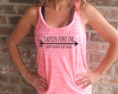 Thirteen Point One Been There Ran That A -Line Racerback Burnout Tank top *FREE SHIPPING