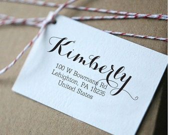 Personalized Custom Name Return Address Stamp Wedding Gift Card Handle Mounted Rubber Stamp Or Pre-inked Stamp Self inking stamp RE640