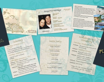 Passport to Paradise Destination Wedding Itinerary | Cabo | Jamaica | Dominican | Mexico