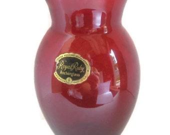 Anchor Royal Ruby Red Vase No. 2014614-B16 / 17