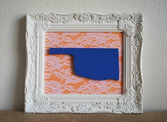 Oklahoma Home Decor. OKC Thunder Home Decor. Blue And Orange