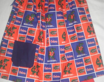 """Size 4T """"University of Florida Gators"""" Pillow Case Dress with pockets and Matching Shorts"""