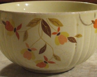 """Vintage Hall Jewel Tea Autumn Leaf Small Mixing Bowl - 6"""""""