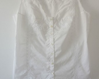 Summer white cotton blouse