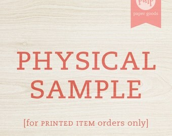 Physical Sample (of one single item) / Add-On