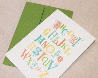 Alphabet Note Cards, Set of 10