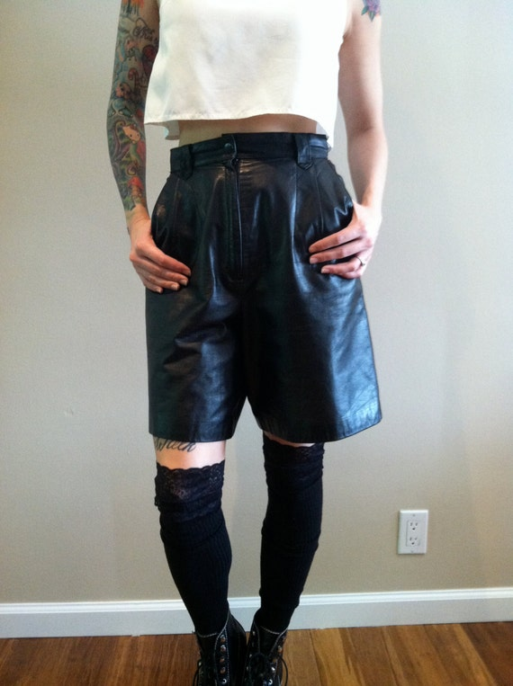 RESERVED LISTING for Mark 1980s high waist knee length leather