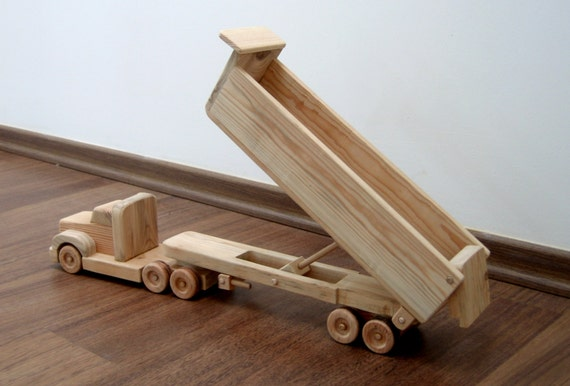 ... to Daphne the dump truck - a wooden toy with movable bed on Etsy