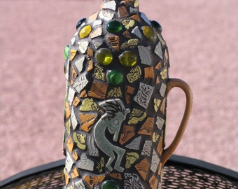 Handmade Mosaic Wine Bottle for your Home W200