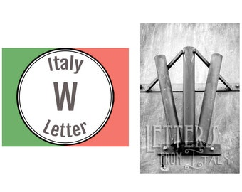 Italy Alphabet Photography: Letter W Photograph