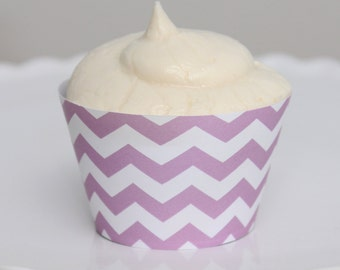 INSTANT DOWNLOAD – Printable Pastel Purple Chevron Cupcake Wrapper – Printable Cupcake Wrappers