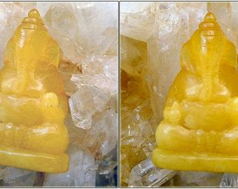 Ganesha - Baltic amber hand carved