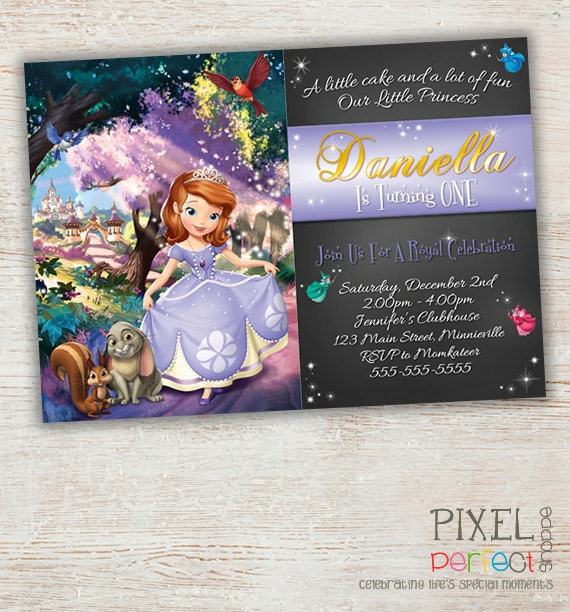Sophia The First Invitation, Sophia The First Birthday Invitation, Sophia The First, Disney Princess Invitation, Printable, Invitation