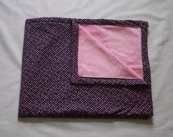 Polka Dot and Pink Baby Blanket