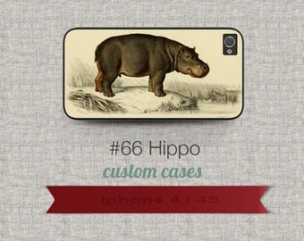 Cell Phone Case Iphone 5 / 5S / 5C 4 / 4S Samsung Galaxy S3 / S4 - Hippo Design number 66