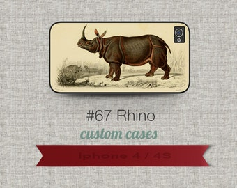 Cell Phone Case Iphone 5 / 5S / 5C 4 / 4S Samsung Galaxy S3 / S4 -Rhino Design number 67
