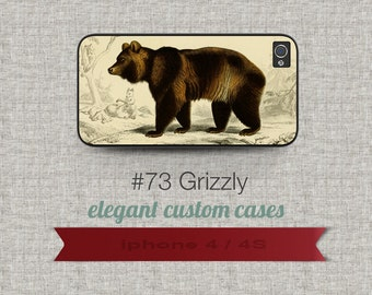 Cell Phone Case Iphone 5 / 5S / 5C 4 / 4S Samsung Galaxy S3 / S4 -Grizzly Design number 73