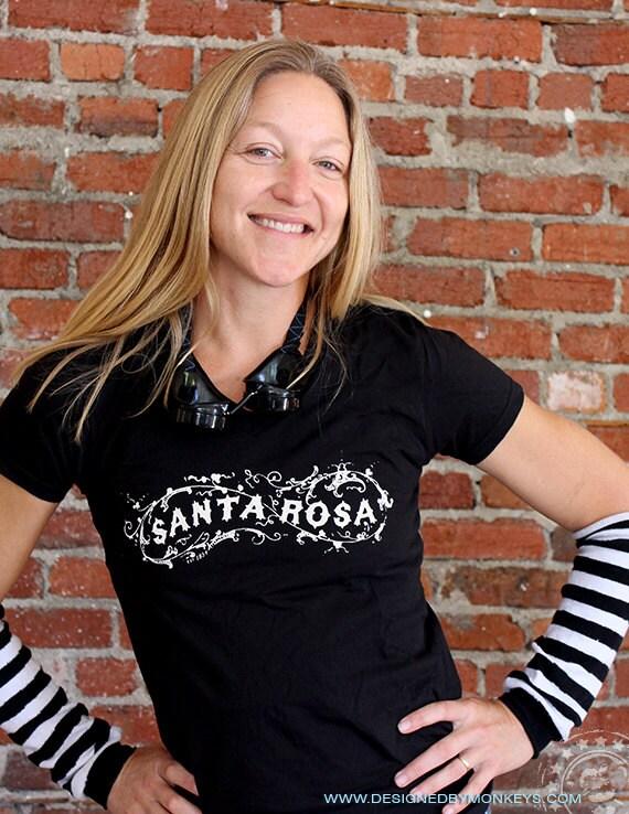 Women's Santa Rosa V-Neck T-Shirt Sizes Sm - XL