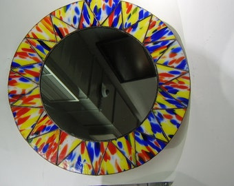 Sun Tiffany Style Stained Glass  Mirror