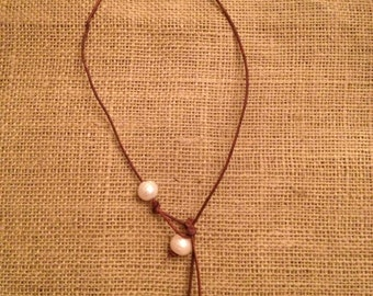 Triple Pearl Droplet Necklace
