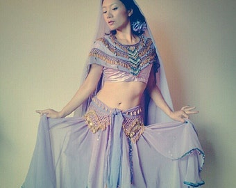 INDIAN, BELLYDANCE, BOLLYWOOD Dance Costume, Womens, Lehenga, Choli, Dupatta, Egyptian Hip Scarves, Performance costume