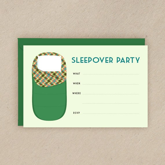 Items Similar To Printable Slumber Party Invitation