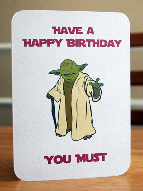 Légend image for printable star wars birthday card