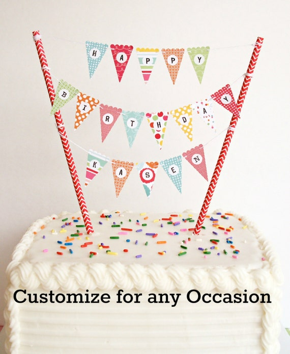 Bonus Kit Mini Cake Banner Cake Bunting Diy Kit Happy