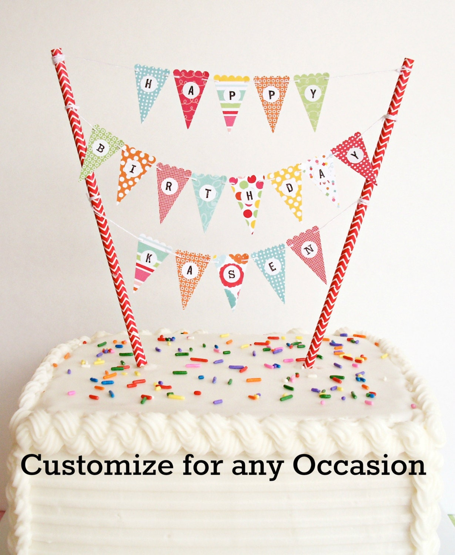 Bonus Kit... Mini Cake Banner / Cake Bunting DIY Kit. Happy